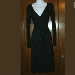 French Connection long sleeve wrap dress jersey 6